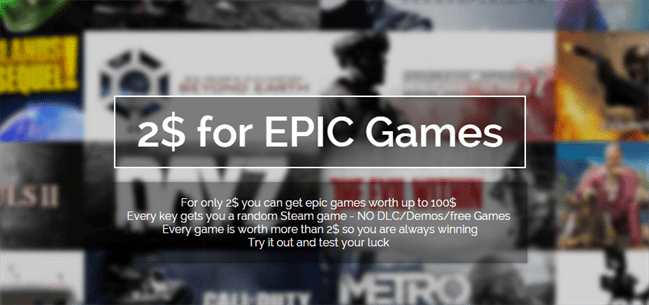 Steamdealz.com - 2$ for EPIC Games