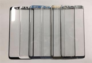 Samusung Galaxy S8 con cornici minime e 5 colori, Samsung Galaxy Tab S3 in foto in vetro e metallo