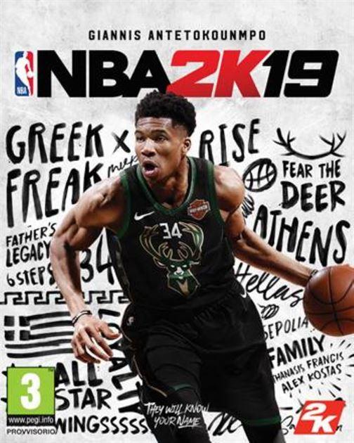 Giannis Antetokounmpo sulla cover della standard edition di NBA 2K19 -  cellicomsoft f582f7fb7d54